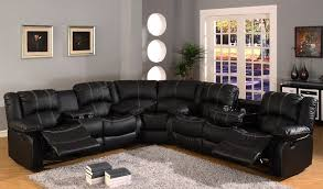 Black Leather Sectional Sofa Recliner Leather Sectional Sofas With Recliners Sofamoe Info