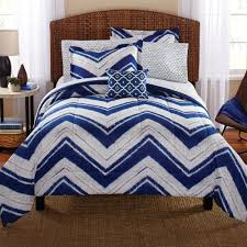 Chevron Print Bedding Set Mainstays Mosby Chevron Bed In A Bag Complete Bedding Set