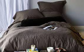bedding set grey linen bedding elevated charcoal gray duvet