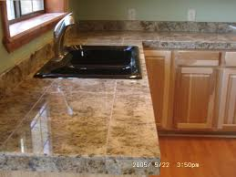 granite tile 24x24 countertop making special effect through