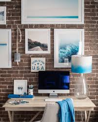 How To Design A Gallery Wall by How To Hang A Gallery Wall On Exposed Brick Walls Bright Bazaar