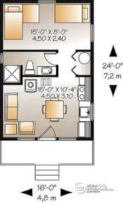 Open Concept Floor Plans For Small Homes 560 Ft 20 X 28 House Plan Small Home Plans Pinterest