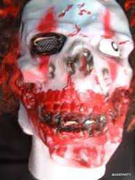 halloween woman mask blood red horror clown mask