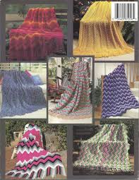new ripple afghans crochet u0026 knit pattern book home decor