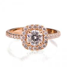 Wedding Rings Gold by Rose Gold Engagement Ring 18k Rose Gold And Diamond Engagement