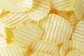 ripple chips ripple potato chips from above stock photo image of flat potato