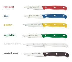coloured kitchen knives colour code ivo cutlery