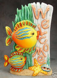 ceramic bisque ready to paint welcome fish 18 tall