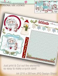 design sheet 2 winnie white christmas printable digi downloads