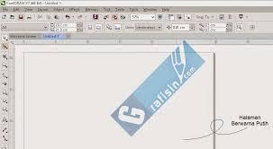membuat gambar transparan di corel draw x7 membuat background lembar kerja atau halaman coreldraw grafisin