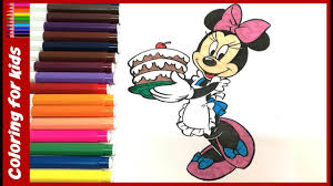 disney coloring pages color minnie mouse cooking birthday