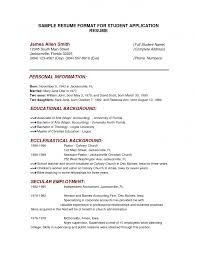 Sample Of Resume Format In Word by Examples Of Resumes Cover Letter Experience Resume Format