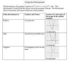 discriminant worksheet pdf with answer key quadratic equations