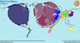 Countries Of The World Map by Nobel Prize Worlds Views Of The World