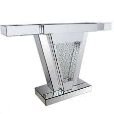 glass mirrored console table mirrored console table wayfair in divine console table mirror