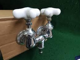 antique clawfoot tub faucet chrome brass old vintage porcelain