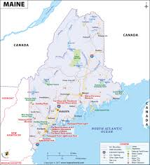 North East Usa Map by Maine Map Map Of Maine Me Usa