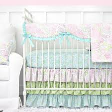 Bright Pink Crib Bedding by Pastel Nursery Design With Bright Pastel Baby Bedding U2013 Caden Lane
