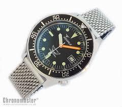 black mesh bracelet images Squale 1521 steel 500 metre professional divers watch black dial jpg
