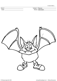 primaryleap uk halloween colouring picture bat worksheet