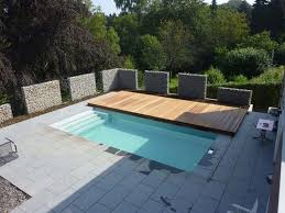 swimming pool design sliding pool with wood cover unique and
