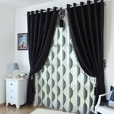 black bedroom curtains black environmental embossed shade cloth living room bedroom