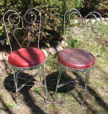 Chrome Bistro Chairs 8 Best Wrought Iron Ice Cream Chairs Images On Pinterest Ice