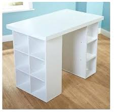 counter height desk with storage desk tall craft table with storage craft table counter height desk