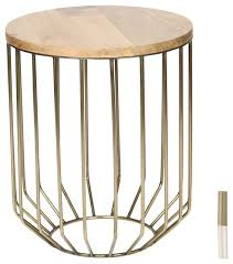 Mango Wood Bar Stools Wire Frame Accent Table With Wood Top Contemporary Side Tables