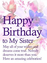 birthday cards for sister happy birthday sister free brother