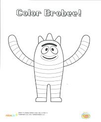 download nick coloring pages jr printables yo gabba dora the