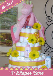 adorable diaper cake for diy baby shower gift mission to save