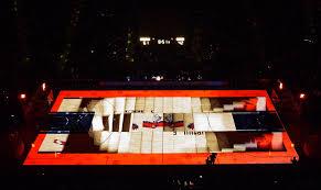 3d light show georgia lottery unveils courtside 3d light show event marketer