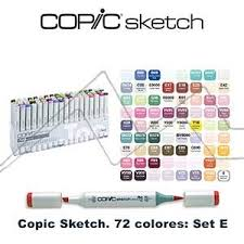 copic sketch estuche con 72 rotuladores colores surtidos set e