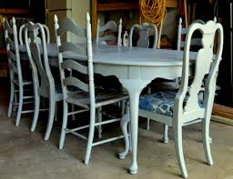Painting Dining Room by Chalk Paint Dining Chairs Distressed My Dining Room Table And