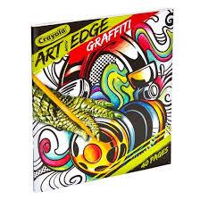 crayola art edge coloring book graffiti target