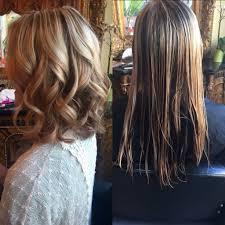a line long haircut cut the back of long hair in a u shape v shape