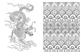 Japanese Designs Posh Coloring Book Japanese Designs For Fun U0026 Relaxation