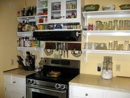 open corner shelves in kitchen nickel chrome faucet stainless