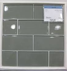 glass subway tile backsplash kitchen light gray 2x12 painted subway glass tile kitchen for