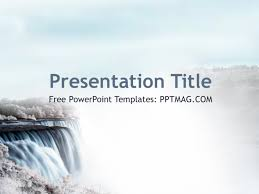 free ppt templates for ngo free waterfall powerpoint template pptmag