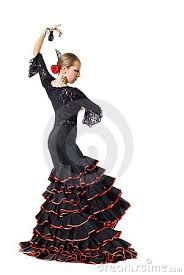 Halloween Costumes Spanish Dancer Spanish Flamenco Dancer Vector Illustration Shadow Wind