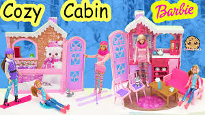 Barbie Dream Furniture Collection by Barbie Cozy Cabin Life In The Dreamhouse Sisters House Playset