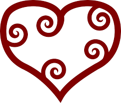 clipart valentine red maori heart