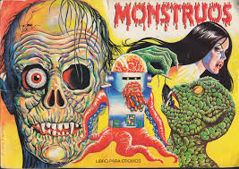 halloween sticker books monster brains monstruos sticker album 1986