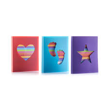 slip in photo albums set of 3 mini 6x4 photo slip in albums in rainbow colours hold
