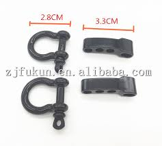 metal bracelet clasps images 5pcs lot black o shape stainless steel shackle u shape adjustable jpg