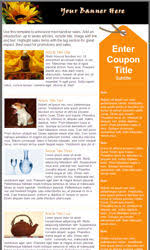 my newsletter builder examples for coupon promotional templates