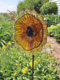 Glass Garden Decor Make Garden Art With Old Dishes Flower Garden Art Glass Yard