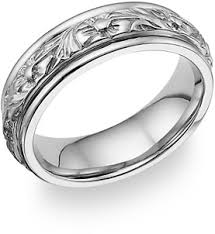 floral wedding band 18k white gold floral design wedding band ring